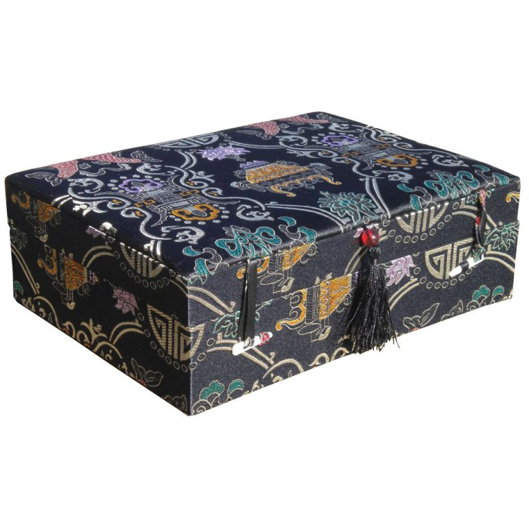Black Longevity Brocade Box