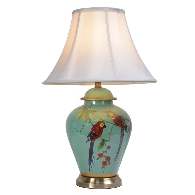 Courting Parrots Lamp