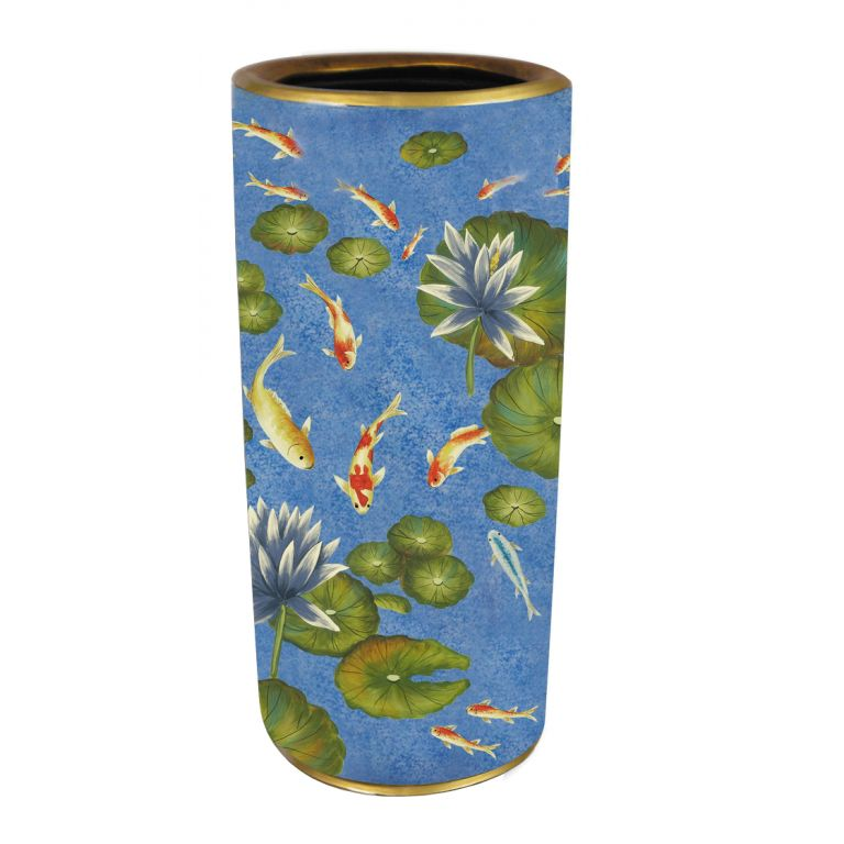 Koi and Waterlilies Umbrella Stand