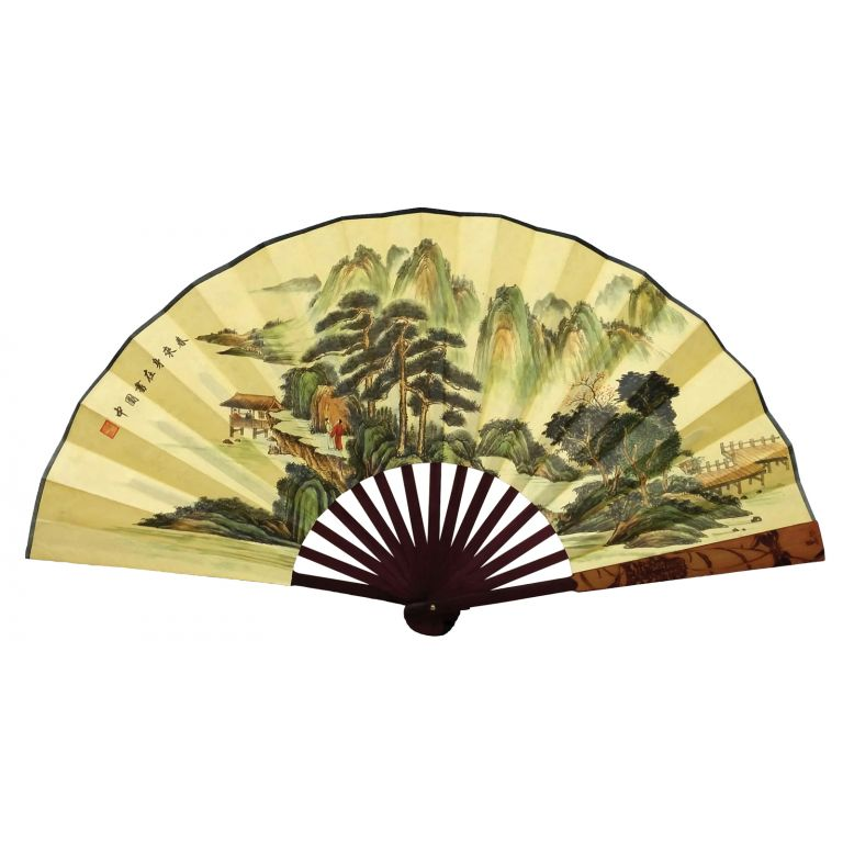 Chinese Landscape Fan
