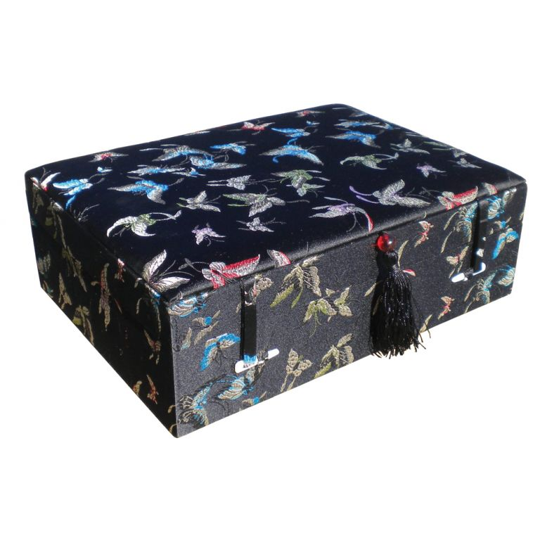 Black Butterfly Brocade Box