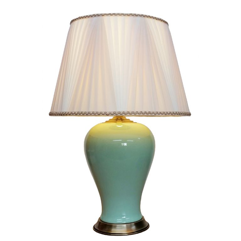 Milky Green Vase Lamp
