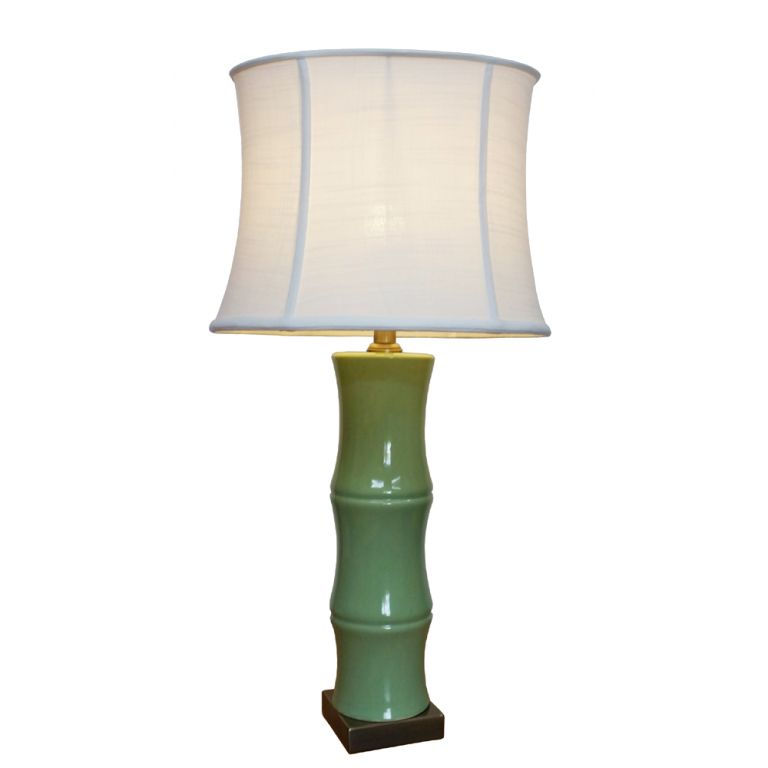 Green Bamboo Lamp