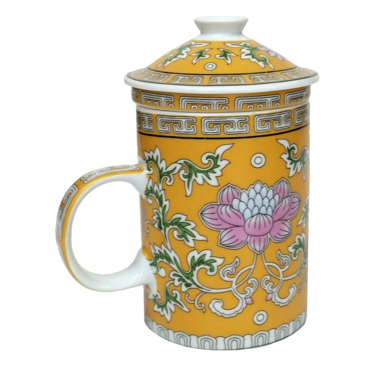 Lotus Flowers Infuser Mug