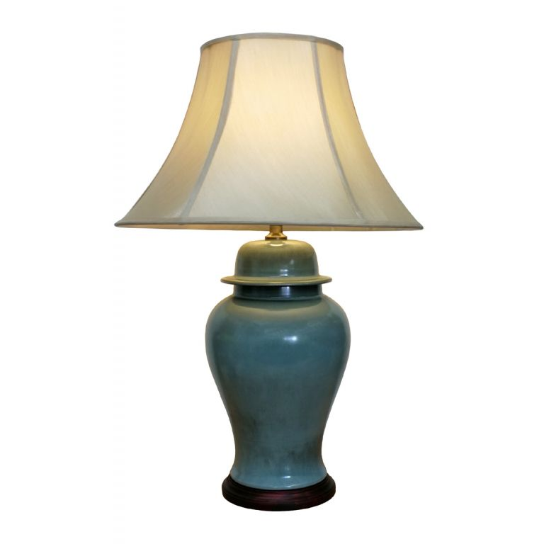 Sea-Green Jar Lamp