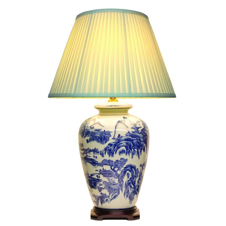 Willow Pattern Lamp