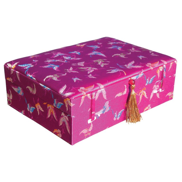 Purple Butterfly Brocade Box