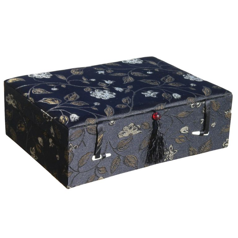 Large Black Floral Box