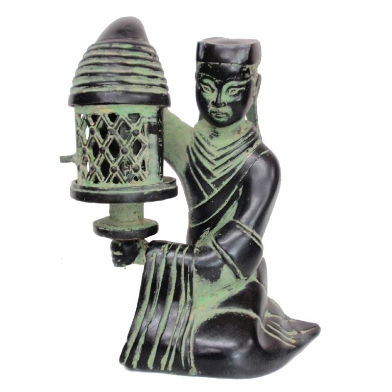 Bronze Lady with Lantern