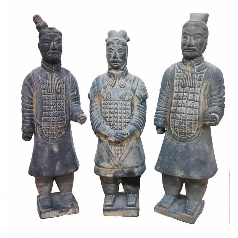 Set of 3 Terracotta Warriors