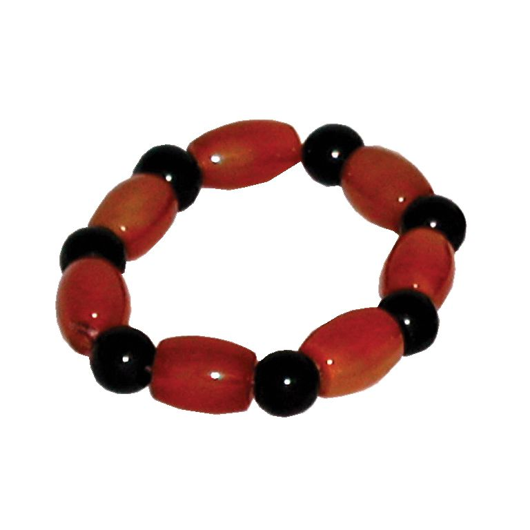Orange Agate Bead Bracelet