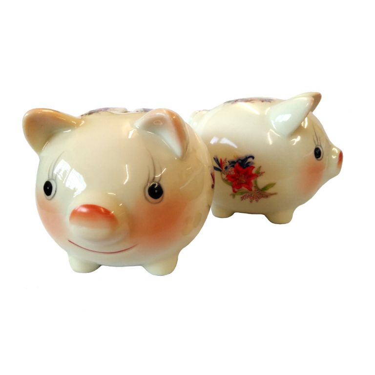Flowery Piggy Bank